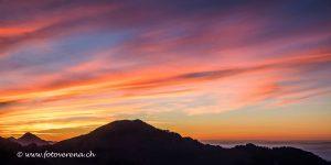 Abendstimmung auf der Klewenalp – der Himmel brennt