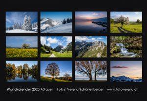 Fotogeschenk - Wandkalender mit Jahreszeit-Motiven