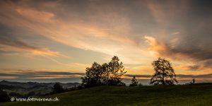 Abend im Appenzellerland mit schöner Wolkenstimmung